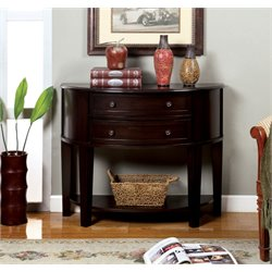 Furniture of America Roper Console Table in Espresso