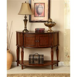 Furniture of America Araceli Console Table in Cherry