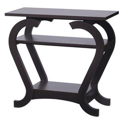 Furniture of America Maximo Modern Curved Console Table in Espresso