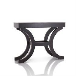 Furniture of America Mickey Modern Curved Console Table in Espresso