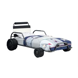 Clint Twin Metal Race Car Bed
