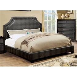 Bunchini Faux Leather Platform Bed