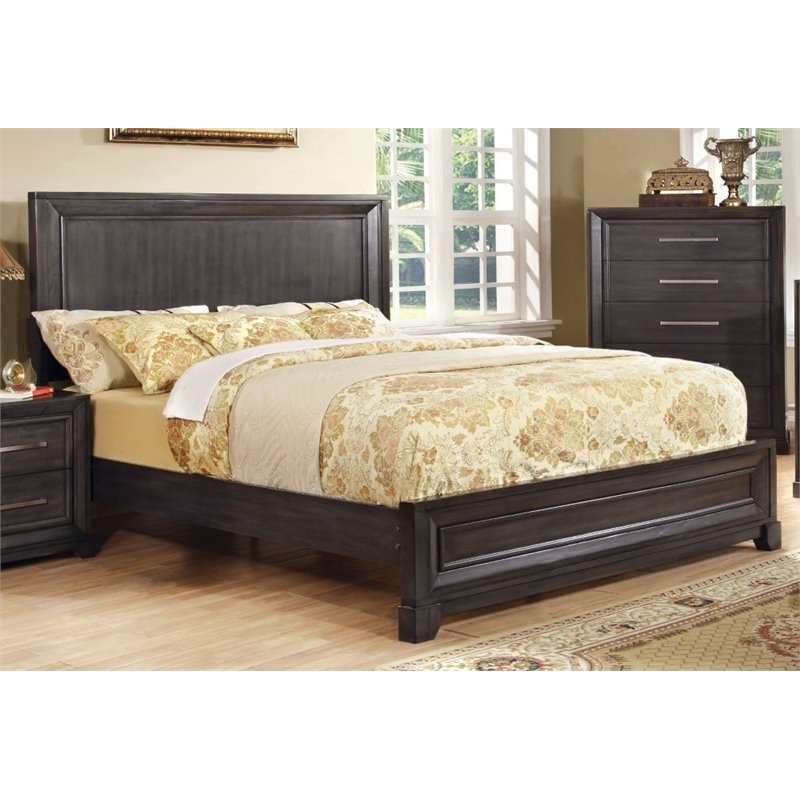 Furniture of america prather queen platform bed in dark for American home furniture beds