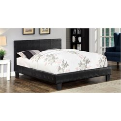 Nicole Faux Leather Platform Bed