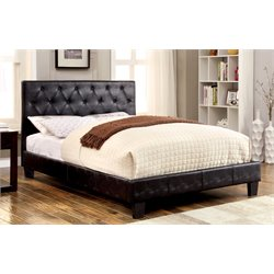 Rochelle Faux Leather Tufted Bed