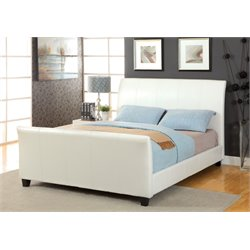 Colvin Leather Sleigh Bed 1