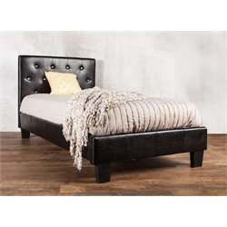 Kylen Leather Tufted Platform Bed