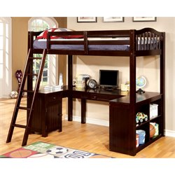 Franklyn Twin Loft Bed with Desk