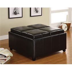 Furniture of America Farren Coffee Table Ottoman in Espresso