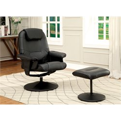 Leland Swivel Lounge Chair with Ottoman