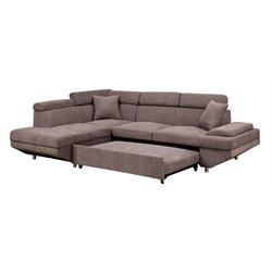Sleet Flannelette Convertible Sectional