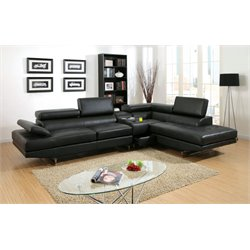 Briana Leather Sectional