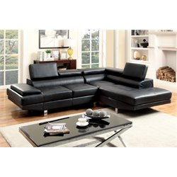 Jetli Leather Tufted Sectional