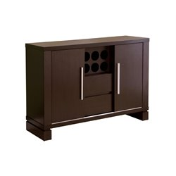 Furniture of America Kyra Moern Wine Rack Buffet in Cappuccino