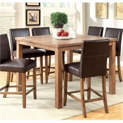 Furniture of America Loen Square Counter Height Dining Table in Oak