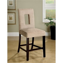 Furniture of America Alfano Counter Stool in Espresso (Set of 2)