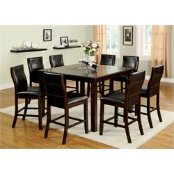 Furniture of America Stollings 7 Piece Counter Height Dining Set
