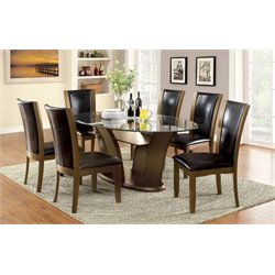 Waverly 7 Piece Glass Top Dining Set