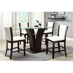 Furniture of America Hartstock 5 Piece Counter Height Dining Set