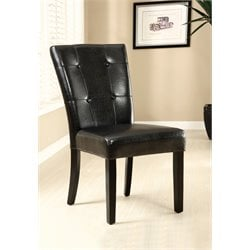 Furniture of America Henquist Faux Leather Dining Chair (Set of 2)