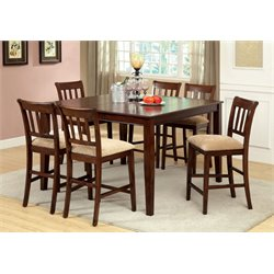Furniture of America Murphiree 7 Piece Counter Height Dining Set