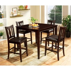 Furniture of America Castleman 5 Piece Counter Height Dining Set