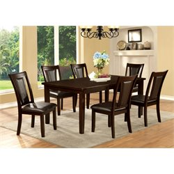Furniture of America Humphrey 7 Piece Dining Set in Dark Cherry