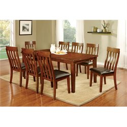 Furniture of America Claire Country 9 Piece Dining Set in Cherry