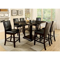 Furniture of America Jacobo 7 Piece Counter Height Dining Set