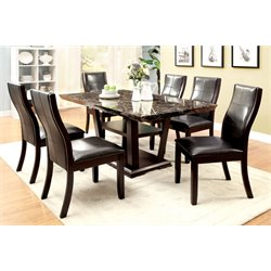 Furniture of America Jacobo 7 Piece Dining Set in Dark Cherry