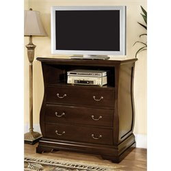 Furniture of America Adhammer 3 Drawer Media Chest in Dark Walnut