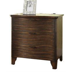 Furniture of America Haughton 3 Drawer Nightstand in Dark Brown