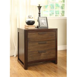 Furniture of America Gioia 3 Drawer Nightstand in Dark Brown