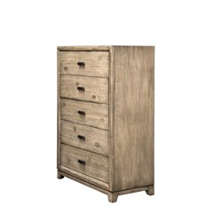 Furniture of America Muttex 5 Drawer Chest in Natural Ash