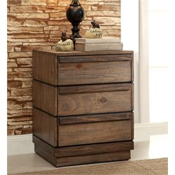 Furniture of America Benjy 3 Drawer Nightstand in Rustic Natural