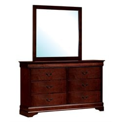 Cedric 6 Drawer Dresser and Mirror Set