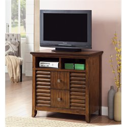 Furniture of America Kyrin 2 Drawer Media Chest in Walnut