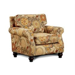 Furniture of America Tayden Fabric Accent Chair in Tan