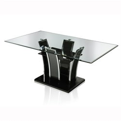 Valery Glass Top Dining Table