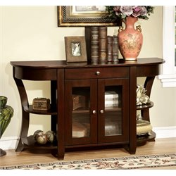 Furniture of America Halstead Console Table in Dark Cherry