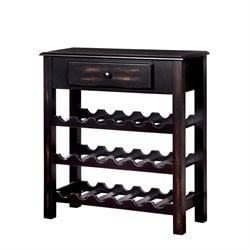 Furniture of America Reilly Wine Rack in Antique Black