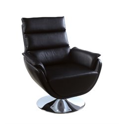 Frarar Faux Leather Swivel Accent Chair
