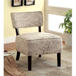 Furniture of America Dash Fabric Accent Chair in Ivory