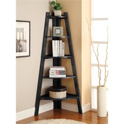 Lawler 5 Shelf Corner Bookcase