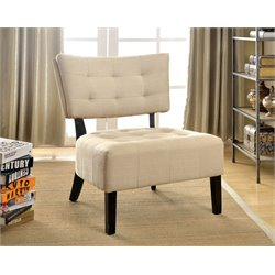 Ronnie Fabric Tufted Accent Chair