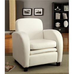 Elvin Leather Accent Chair