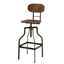 Baldree Adjustable Swivel Bar Stool