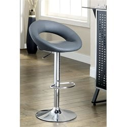 Furniture of America Costilo Adjustable Swivel Leather Bar Stool