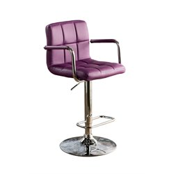 Reiley Leather Adjustable Bar Stool
