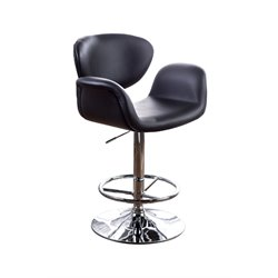Regner Leather Adjustable Bar Stool